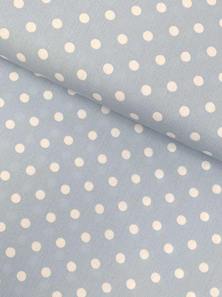 Baumwolle Design by Poppy Punkte Gross HELLBLAU