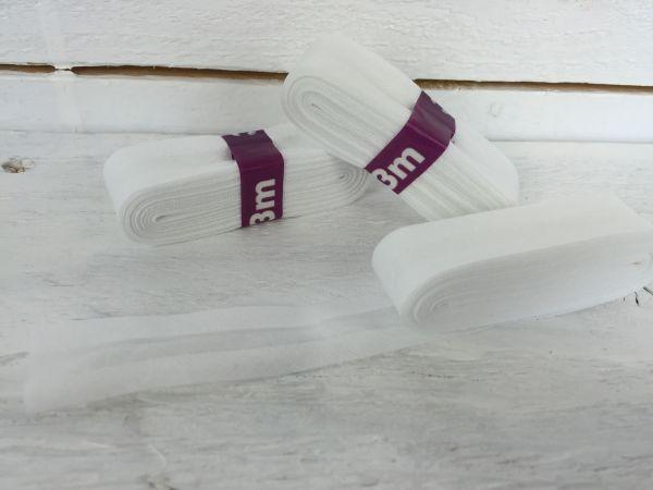 Schrägband Baumwolle Weiß