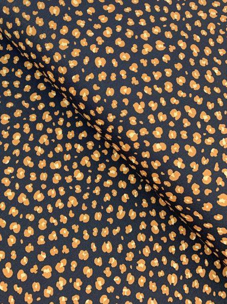 Baumwolle Ökotex Leopardenmuster Schwarz