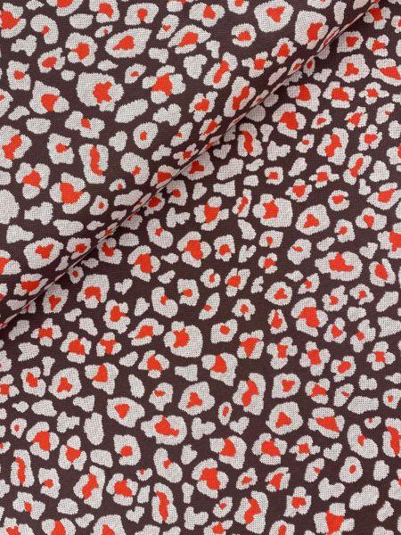 Jacquard-Strick Leo Animal Orangerot