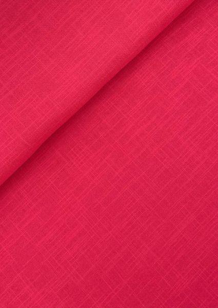 Baumwoll-Webware Leinenoptik Rot