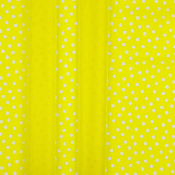 Regenjackenstoff Dünn Punkte Gelb