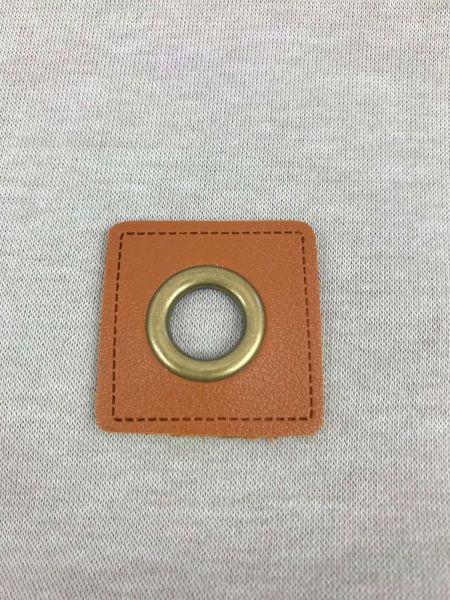 Öse auf Kunstleder Braun 8mm Bronze