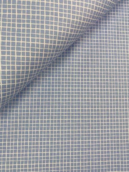Baumwolle Mini Serie Fischernetz Hellblau