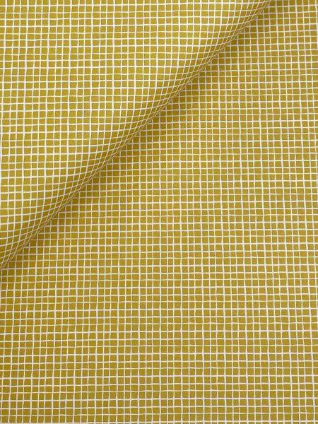 Baumwolle Mini Serie Fischernetz Senfgelb