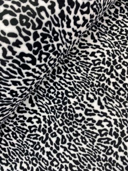 Wellnessfleece Schnee Leopard