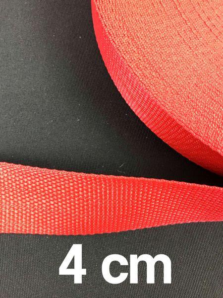 Gurtband 4 cm Breit Rot