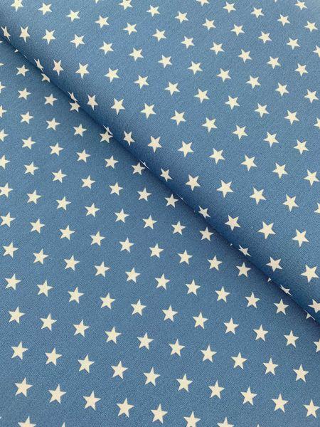 Baumwolle Design by Poppy Sterne Mittel JEANSBLAU