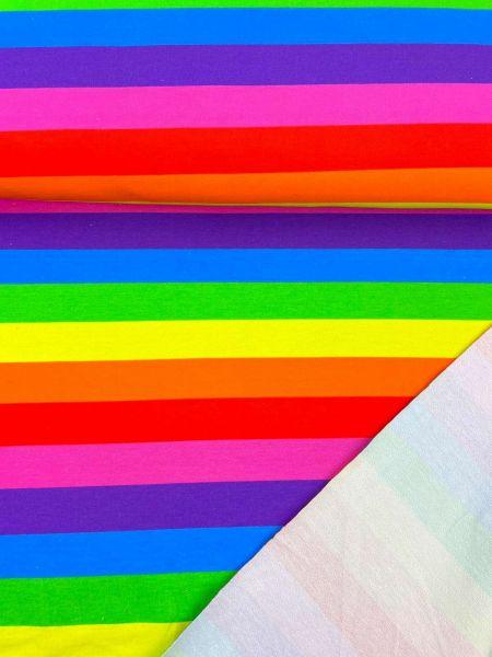 French Terry Ökotex Rainbow Stripes