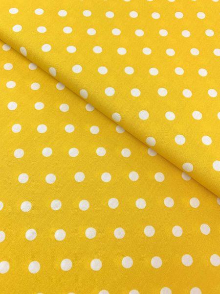 Baumwolle Design by Poppy Punkte Gross GELB