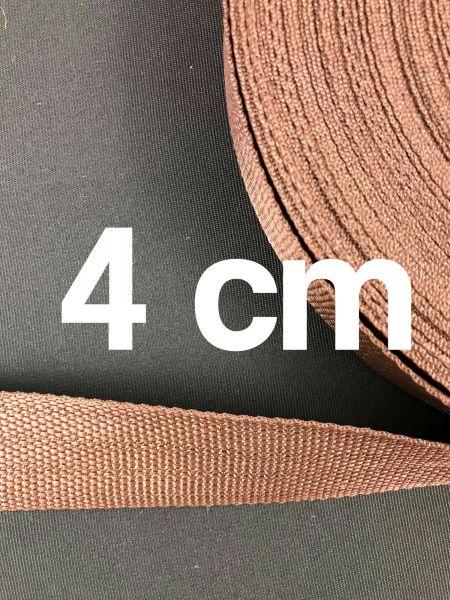 Gurtband 4 cm Breit Schoko