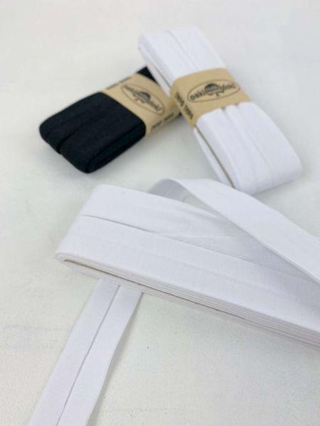 Jersey Schrägband Weiß 3 Meter