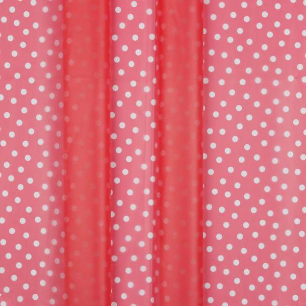 Regenjackenstoff Dünn Punkte Pink