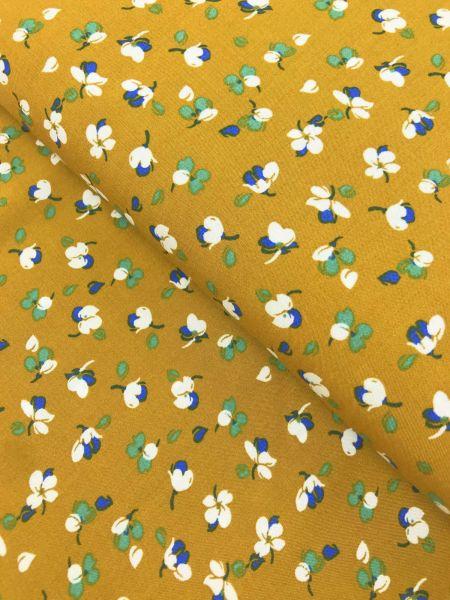Viscose Streublümchen Senfgelb