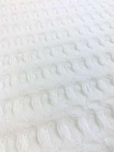 Waffel-Piqué Groß Weiß