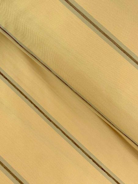 Überbreiter Gardinenstoff Streifen Beige/Braun