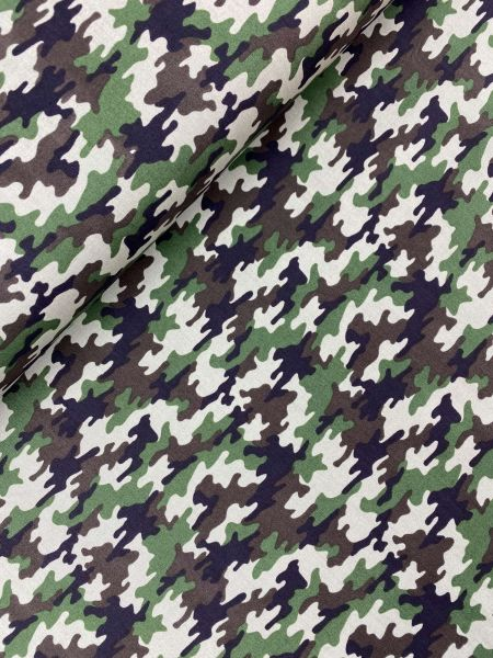 Baumwoll-Webware MINI Camouflage Khaki
