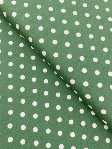 Baumwolle Design by Poppy Punkte Gross DUNKELGRÜN